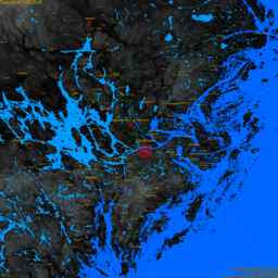 Solna, with labels, SLR +0.0 m