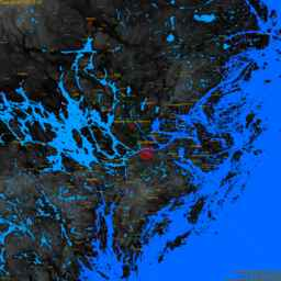 Solna, with labels, SLR +1.0 m