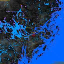 Solna, with labels, SLR +4.8 m